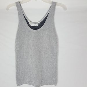 Kenar Metallic Sleeveless Top Shirt Gray SZ S/M